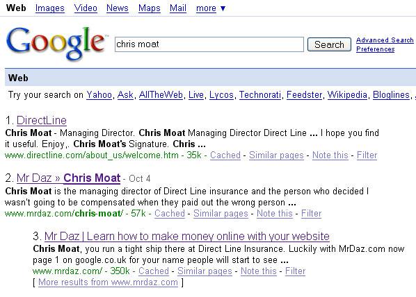 Direct Line Google