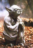 Yoda with cane