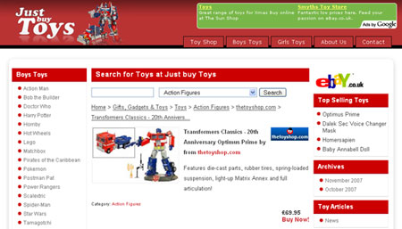 Just buy Toys - Optimus Prime