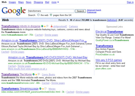 Transformers in Google