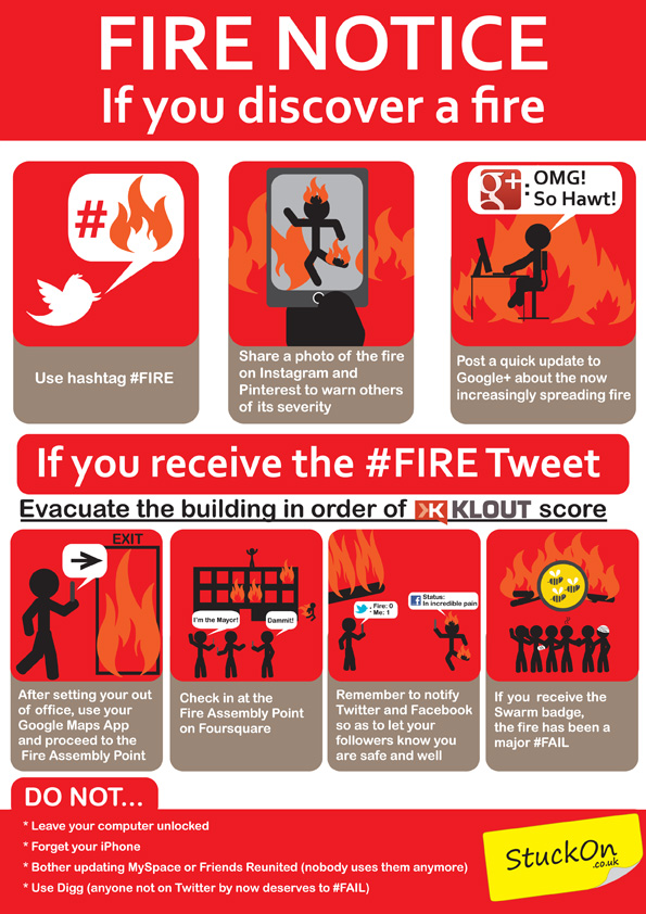 Fire Safety Notice for the Social Network User