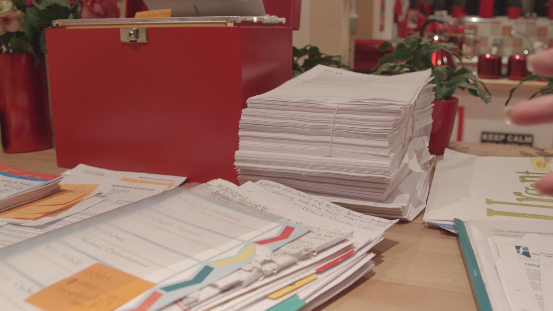 Some of the paperwork caused by BOS