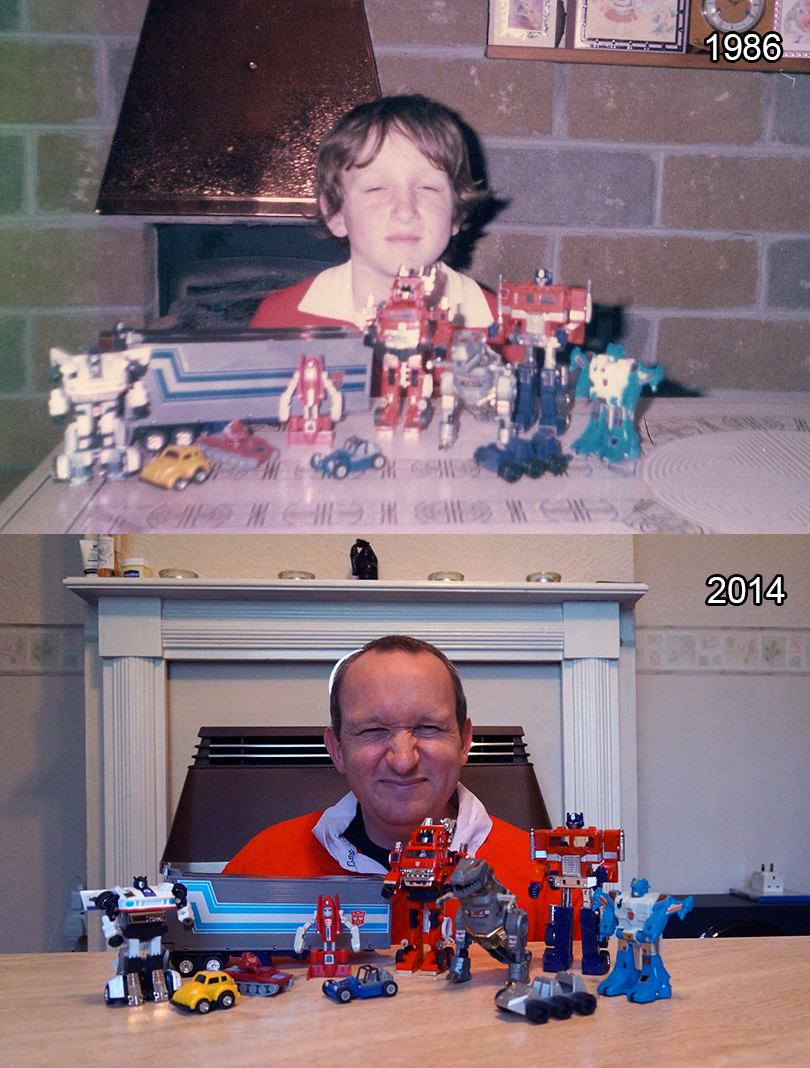 Transformers photo - then and now